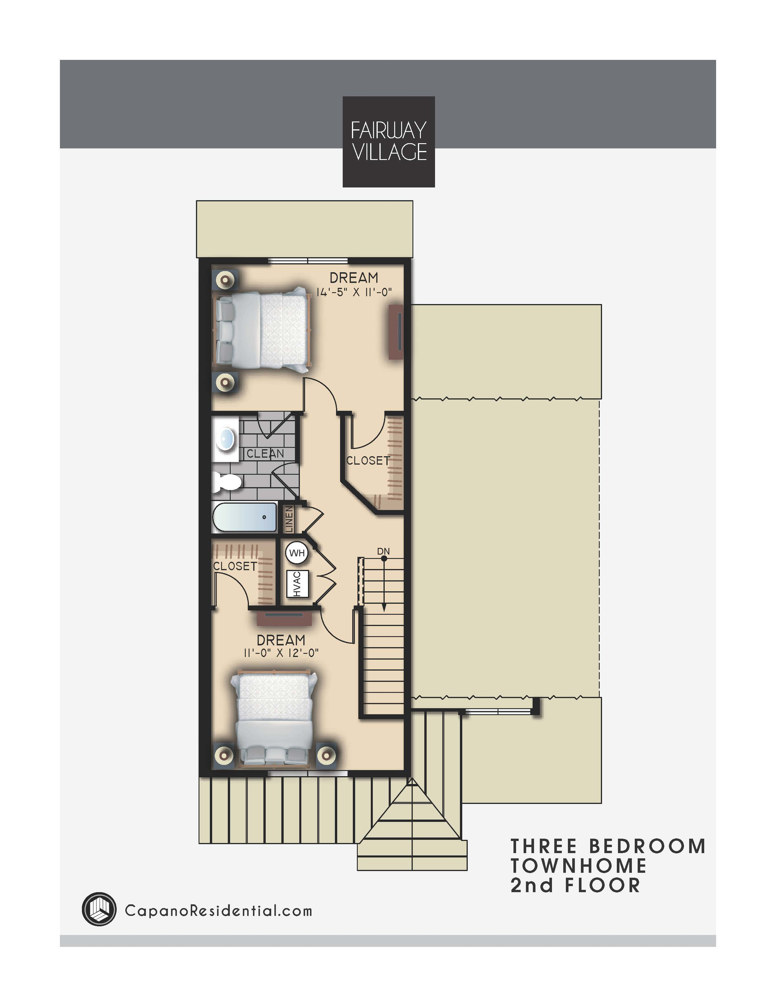 Stupendous Fairway Village Townhomes Capano Residential Home Interior And Landscaping Transignezvosmurscom